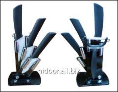 Набор керамических ножей  черн. EYS-60  3PS + чистка    (20 наб. в ящике)