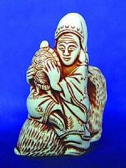 Netsuke Dzyurodzin on a deer the article 06.1