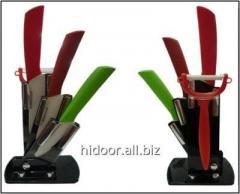 Набор керамических ножей  цвет.EYS-60  3PS + чистка