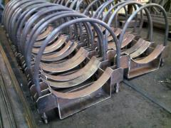 Sections of a tubular heater of a copper,