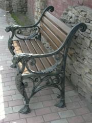 Мебель кованая уличная (Киев), парковая скамейка,