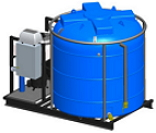 Installations for cooling of water with
