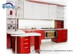 Кухня МДФ под краской, комбинированые 2 цвета,