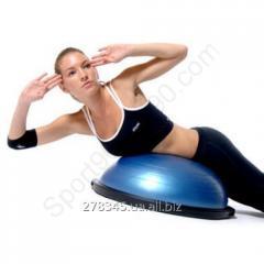 Balancing Bosu Balance Trainer platform