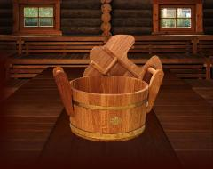 Wooden steamer for baths, saunas, steam rooms with