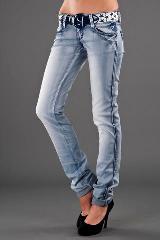 Голубые прямые джинсы E.Aria Ladies