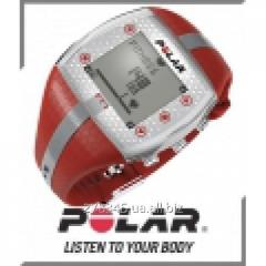 Monitor of a warm rhythm POLAR FT7F red/silver
