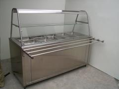 Food warmer for salads (cold) on 3 gastroyemkost of GN 1/1 1500х700х850 (1450)