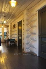 Construction of baths wooden, Ukraine