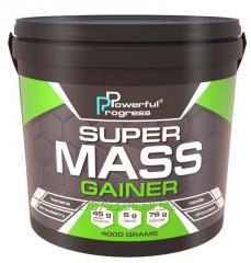 Гейнер SUPER MASS GAINER 4кг Шоколад POWERFUL