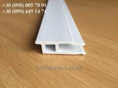 Profile wall PVC of harpoon type for a stretch