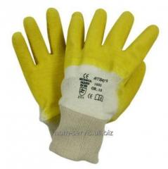 Glove NITRAS® 1600 gloves knitted with covering