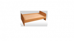 Кровать детская с закругленными спинками (без
