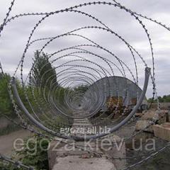 Колючая проволока Егоза Аллигатор 600/5 спиральный барьер