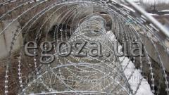 Колючая проволока Егоза Кобра двойная спираль 600+900