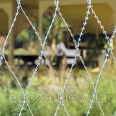 Колючая сетка Пиранья 2х10 колючее ограждение