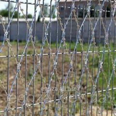 Колючая сетка Пиранья 2х6 забор из колючей