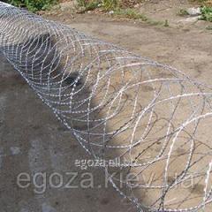 Колючее заграждение Егоза Аллигатор 800/7 спиральный барьер