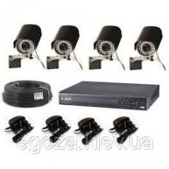 Set of system of video surveillance on 4 chambers
