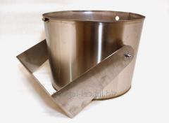 Bucket falls from a stainless steel