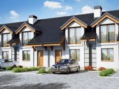 Проект дома для рядовой застройки Дом под гинко
