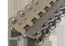 MS 25 шарнирные винтовые механические соединители для стыковки конвейерных лент толщиной от 3,5 до 7,5 мм