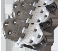 MS 55 шарнирные винтовые механические соединители для стыковки конвейерных лент толщиной от 9 до 15 мм