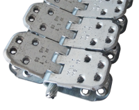 MS 65 hinged screw mechanical connectors for joining of conveyer belts from 10 to 18 mm thick