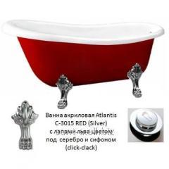 Bathtub red separate Atlantis C-3015 Red silver of
