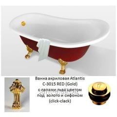 It is red a white bathtub acrylic Atlantis C-3015