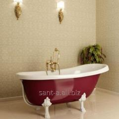 Red bathtub of a retro of Atlantis C-3015 Red