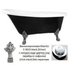 It is black a white bathtub of a retro of Atlantis