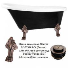 Bathtub black acrylic in style a vintage of