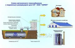 System of autonomous gas supply (equipment)