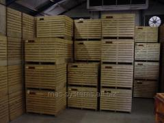 System of container storage of vegetables