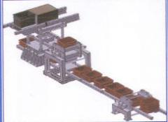 Lines of pulse molding. Forming machines, sites of