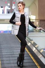 MIRANDA VEST, 42 R. white, raincoat fabric