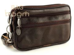 Man's leather HD-0382 BROWN bag
