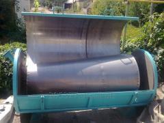 Separator for bards after spirit, fish waste,