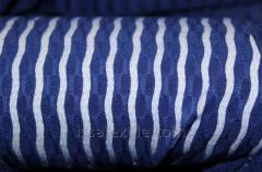 Стрейч сетка полоска цвет голубой