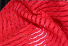Стрейч сетка полоска цвет красный