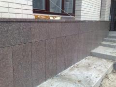 Плитка пиленая фасадная-верх сколотый 20*40*3 см
