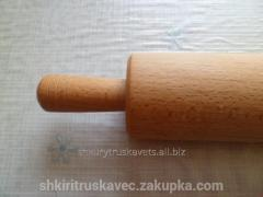 Rolling pin wooden, pine, 14 cm length, 8th width