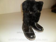 High fur boots man's 45 high, skin sheepskin,