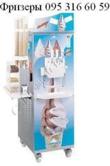 Freezers for soft ice cream