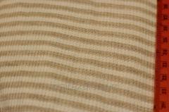 Ткань трикотажная полоска бежевая и белая
