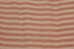 Ткань трикотажная полоска бежевая и розоватая