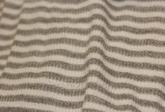 Ткань трикотажная полоска бежевая и коричневая