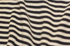 Fabric knitted strip beige and black