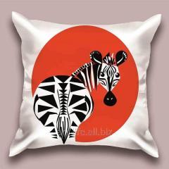 Design throw pillow Interesting zebra, art.